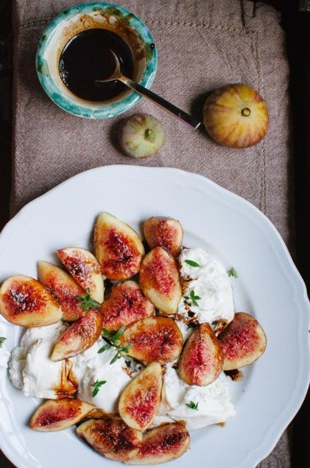 Quick Burrata and Figs Appetizer1