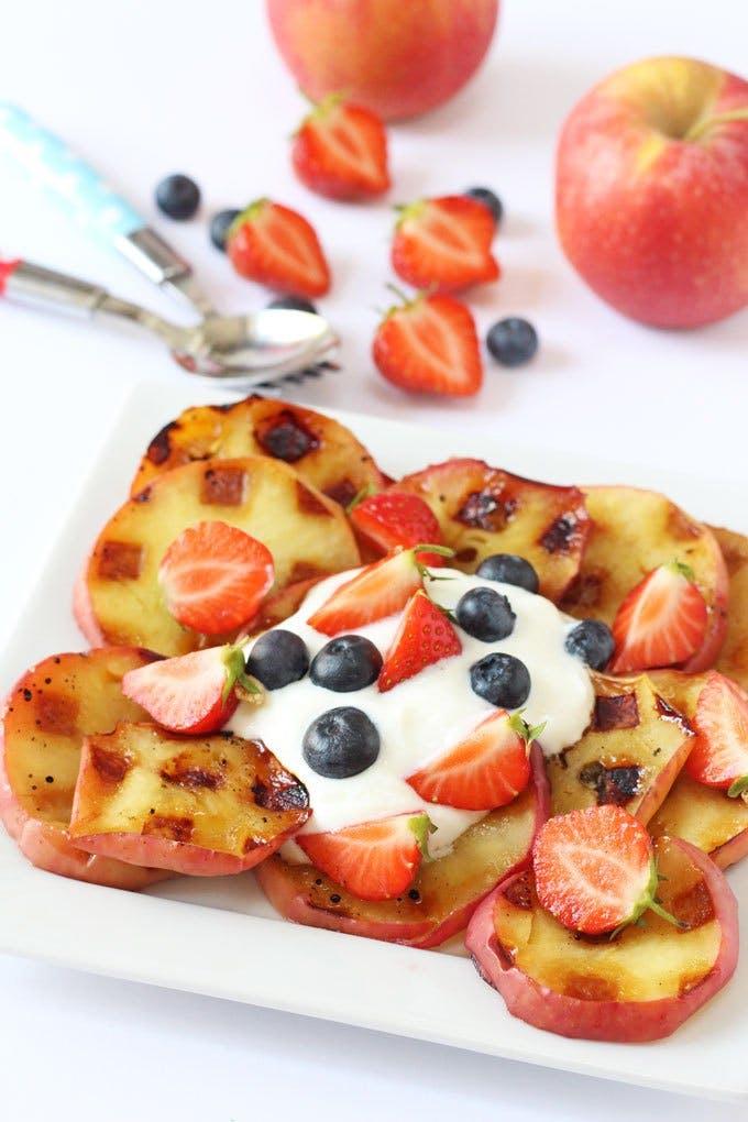 Waffle Iron Apples