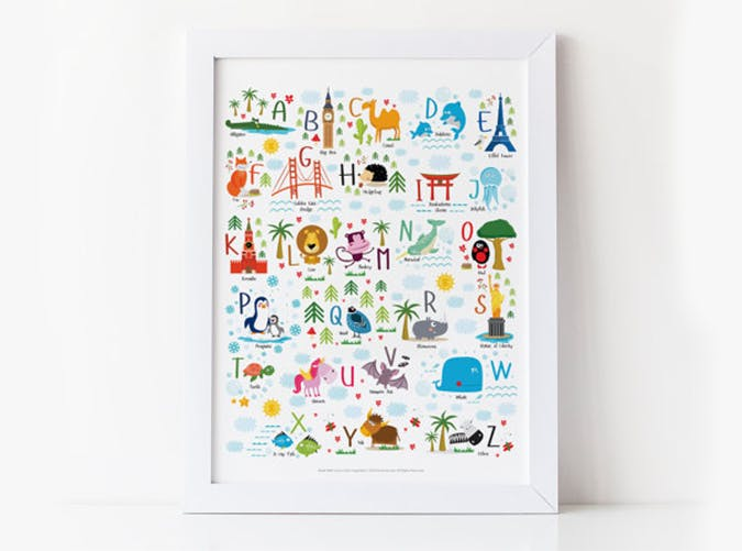 animal alphabet poster unique baby gifts