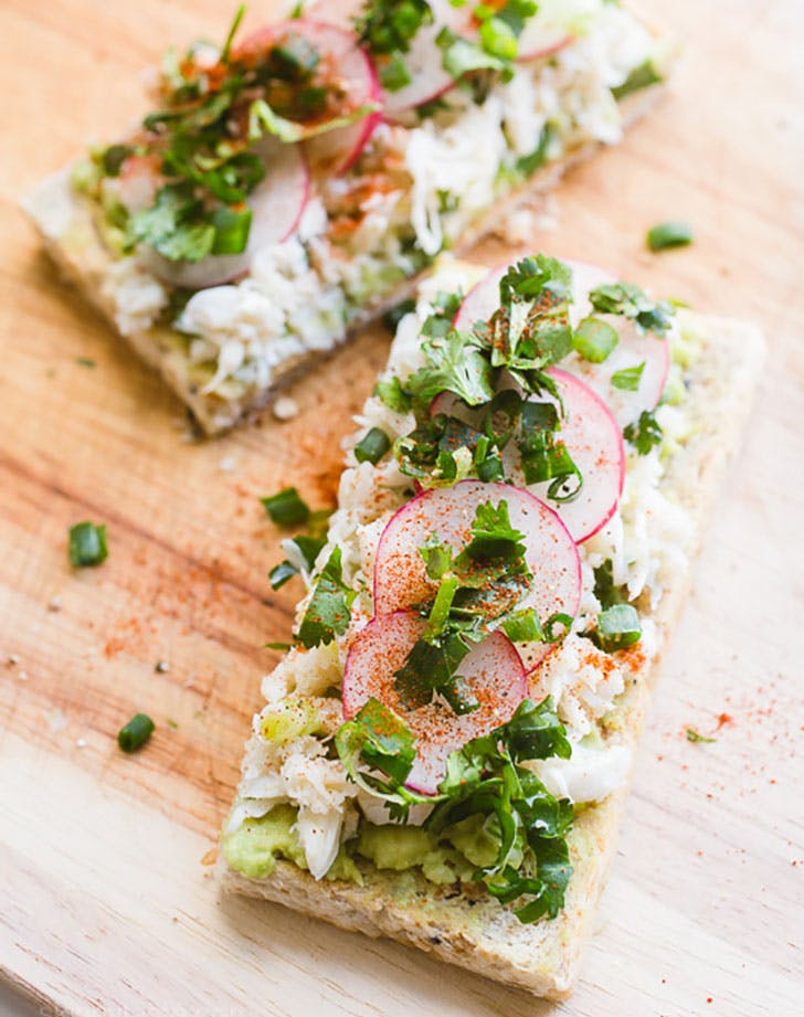 avocado crab toast