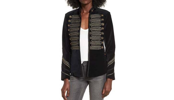 blanknyc velvet jacket nordstrom sale