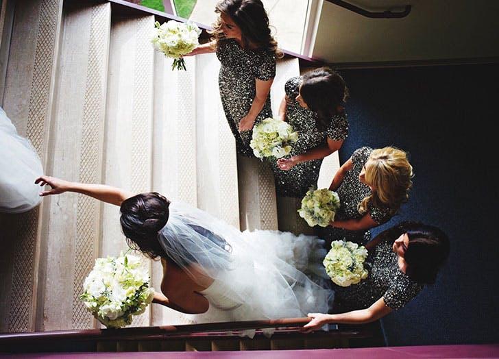 bride stairwell