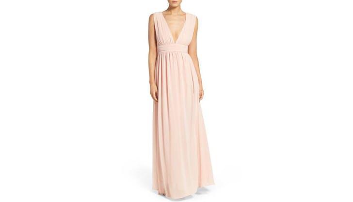 bridesmaid dress blush