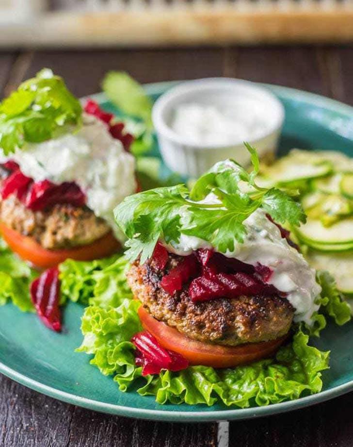 bunless moroccan lamb burger 921