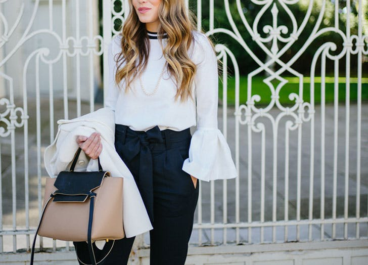 business casual outfits statement blouse