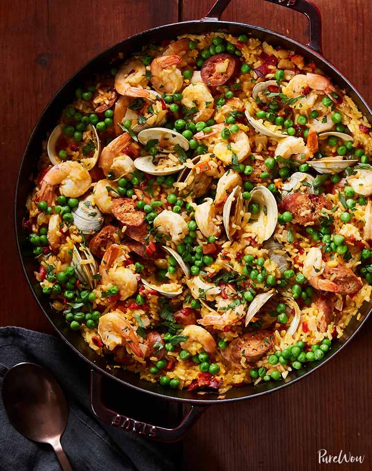cheaters  skillet paella recipe 921