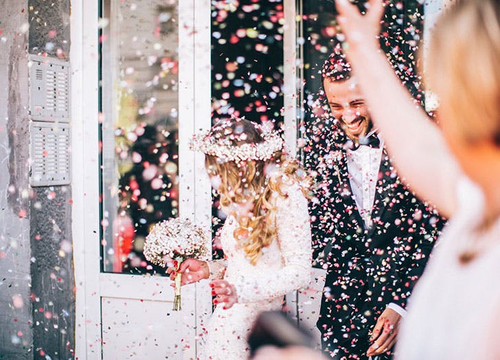 couple confetti
