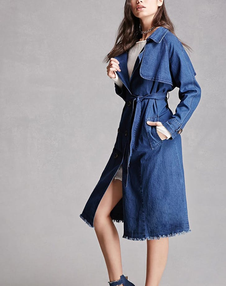 denim trench coat forever 21