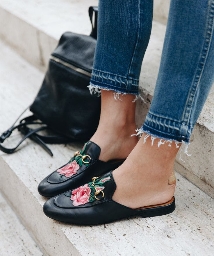 embroidered loafers maximalist shoe trends