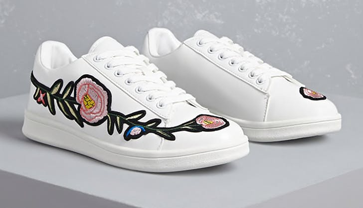 embroidered sneakers forever 21
