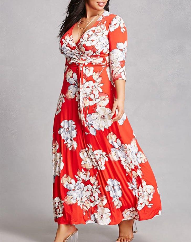 floral wrap dress forever 21