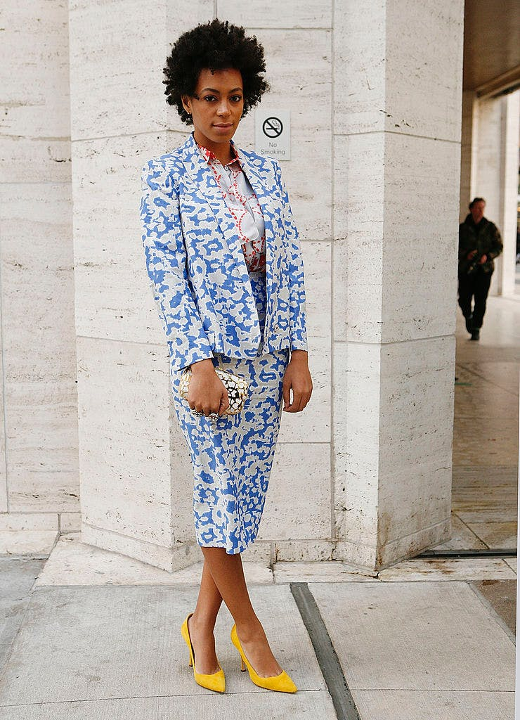 funky suit solange august style ideas