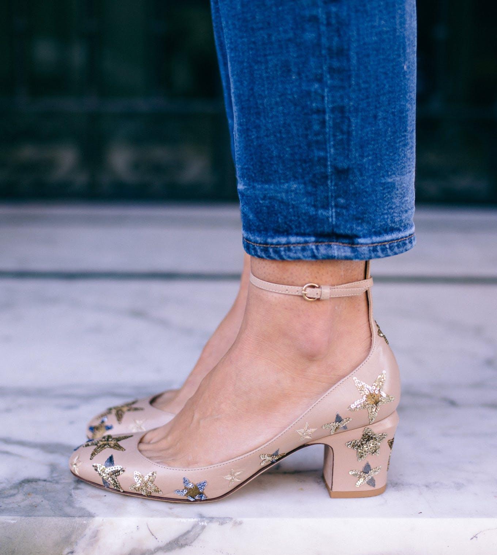 glitter maximalist shoe trends