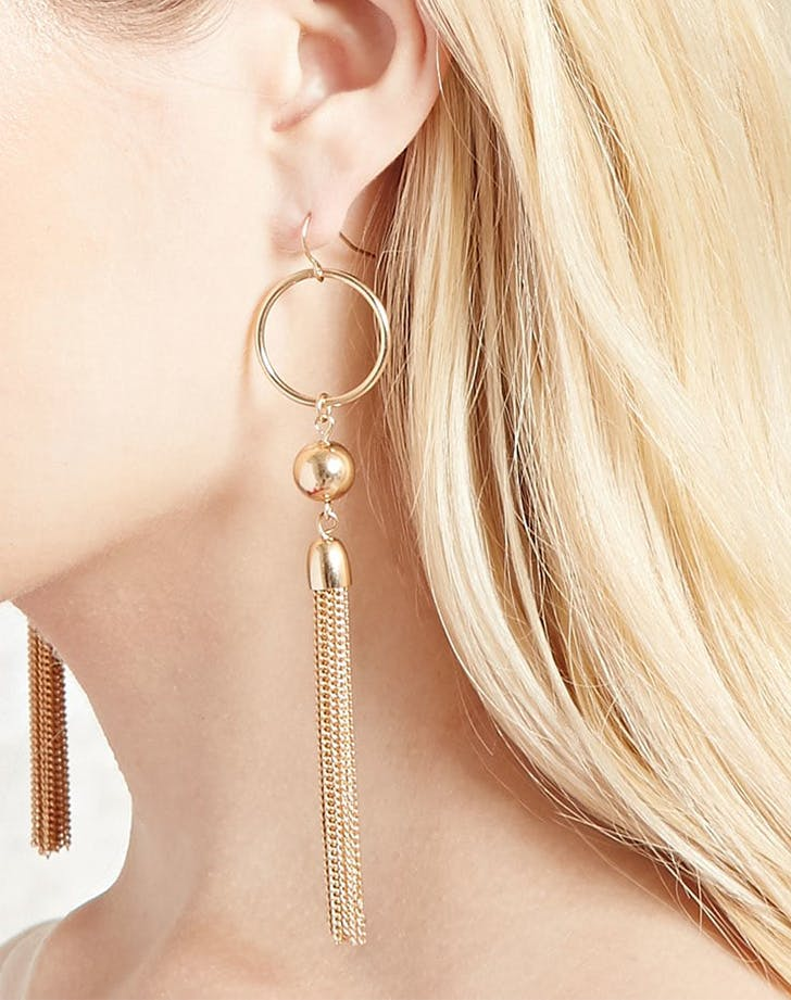 gold tassel earrings forever 21