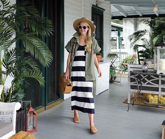 green and stripes august style ideas1