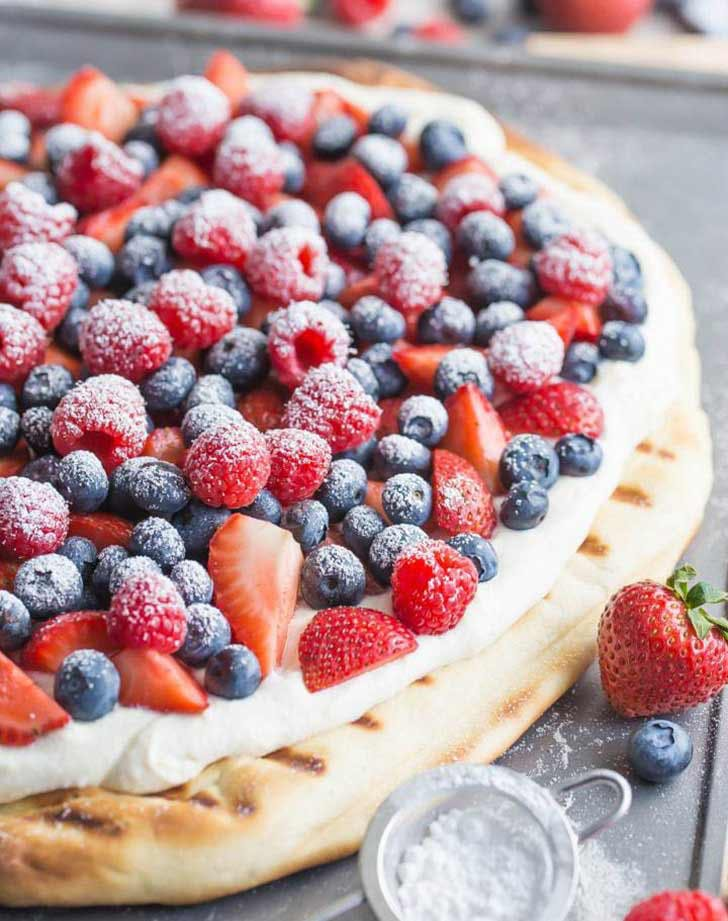 grilled berry ricotta piza 921