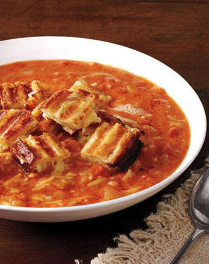 grilled cheese croutons tomato soup LIST