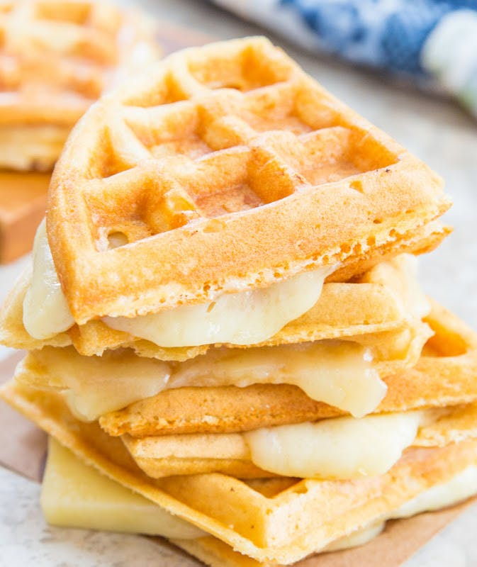 grilled cheese waffles