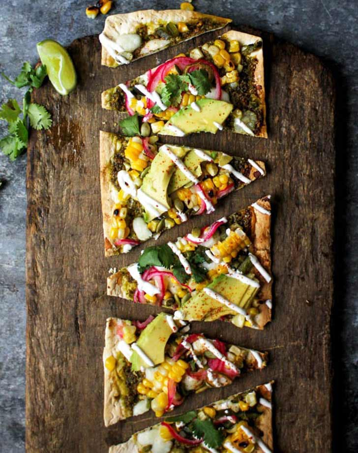 grilled mexican street corn pizza 921