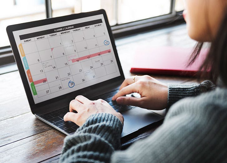 how to work when exhausted calendar