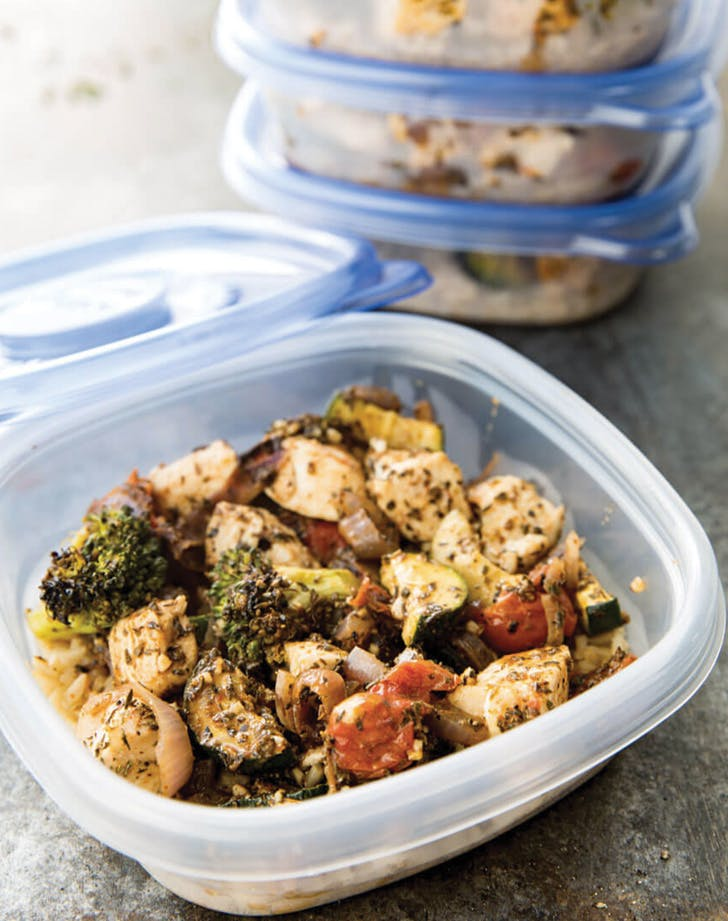 Easy Italian Chicken Meal Prep Bowls