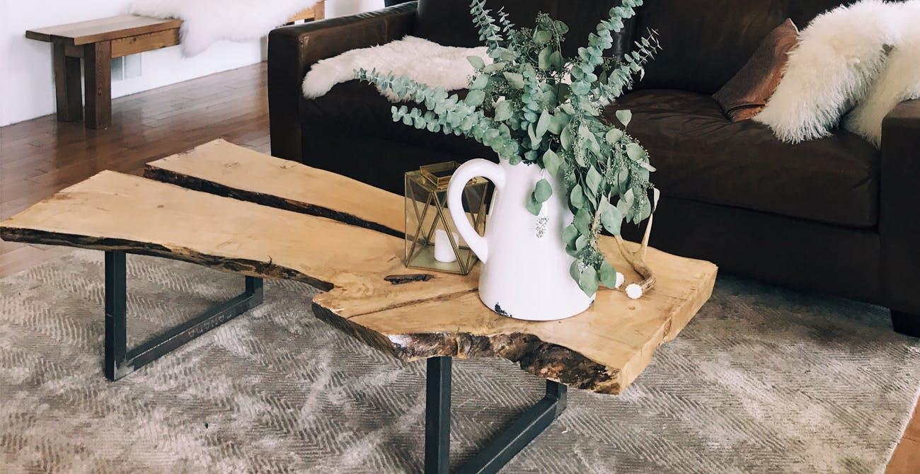 live edge wood table