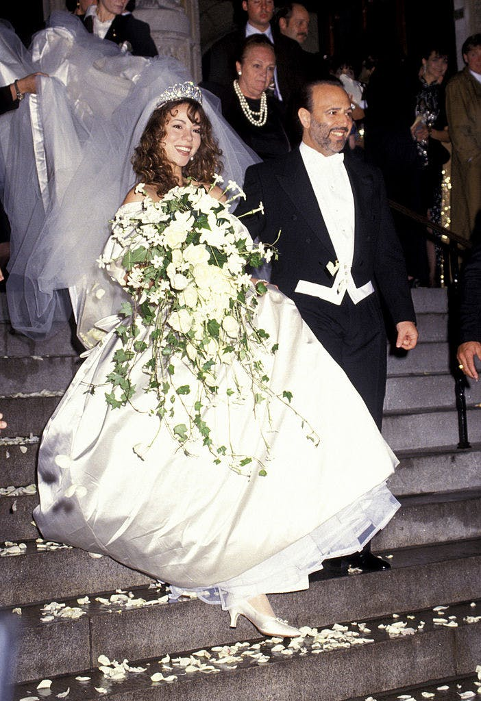 mariah carey wedding dress 1993