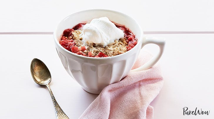 10-Minute Strawberry Cobbler for One