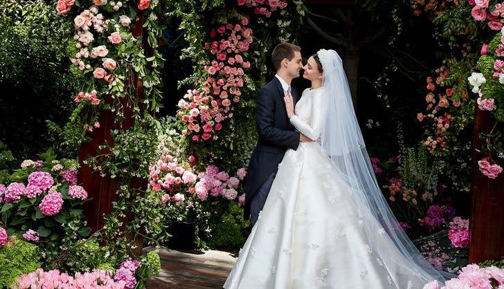 miranda kerr wedding dress evan spiegel vogue august 2017 1