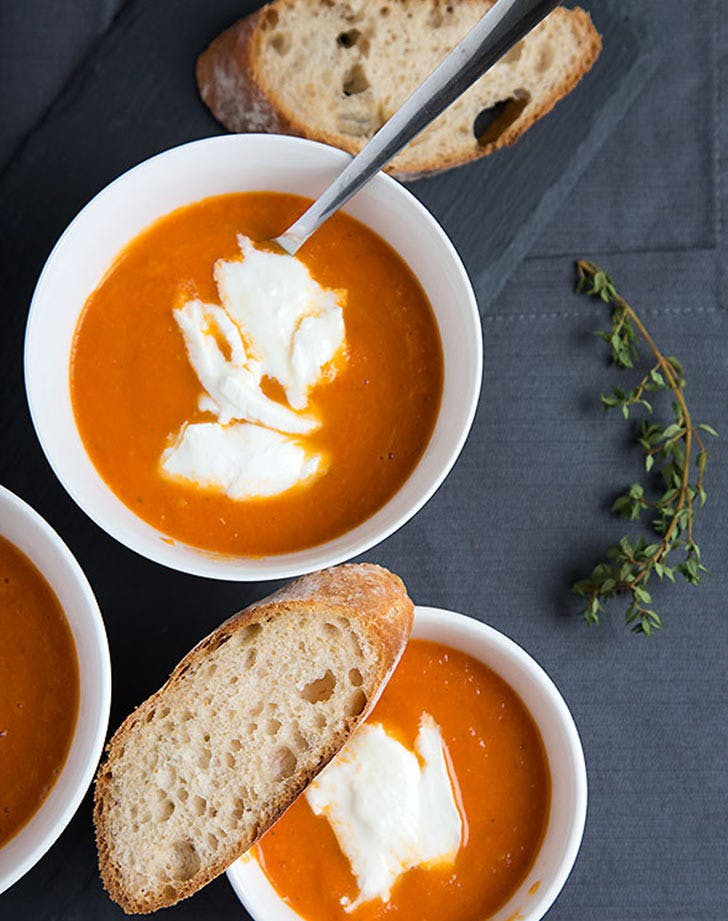 mozzarella tomato soup LIST