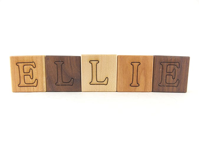 name letter blocks unique baby gifts