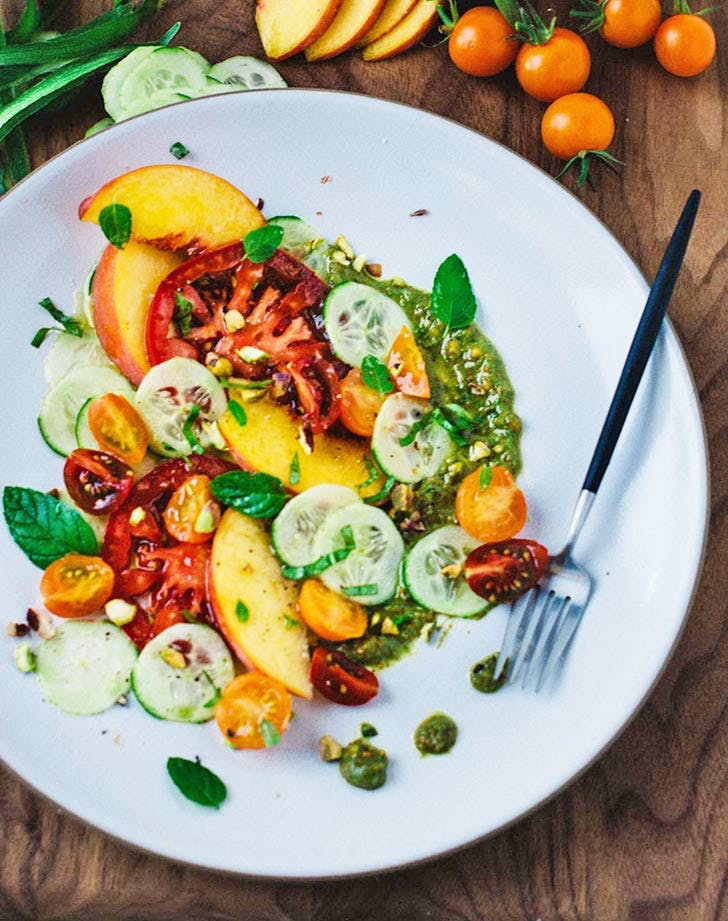 peach tomato cucumber salad 921