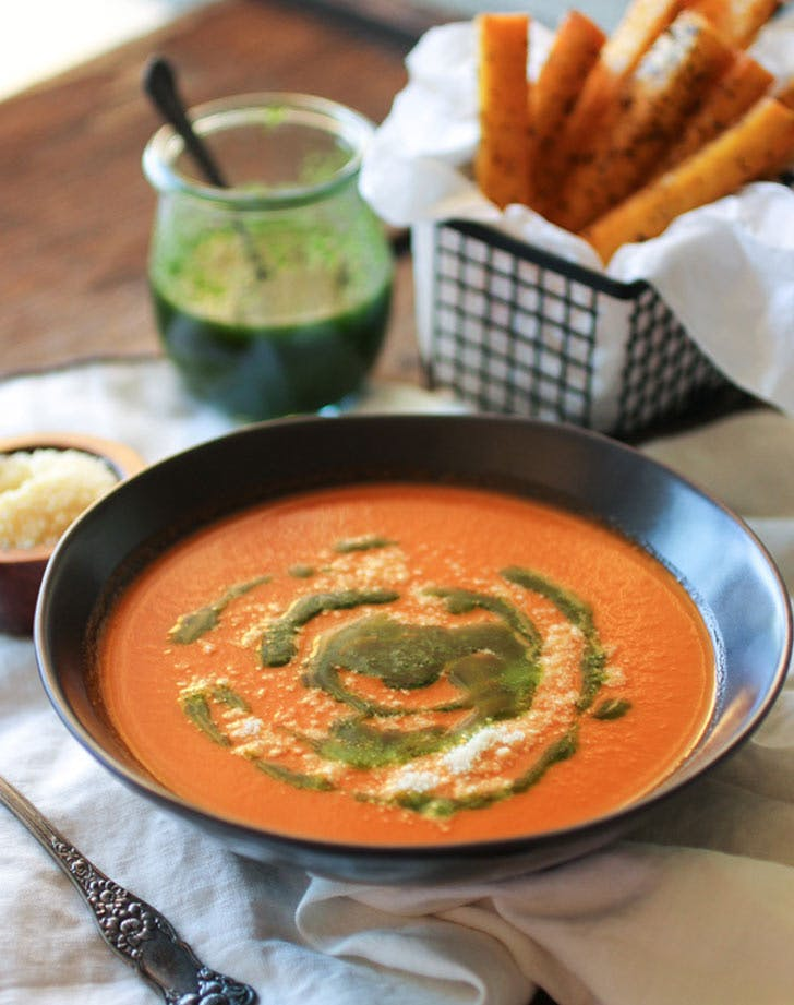 pesto tomato soup LIST