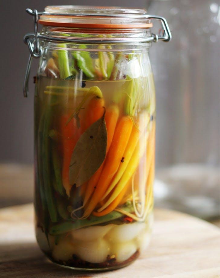 pickled vegetables jar LIST