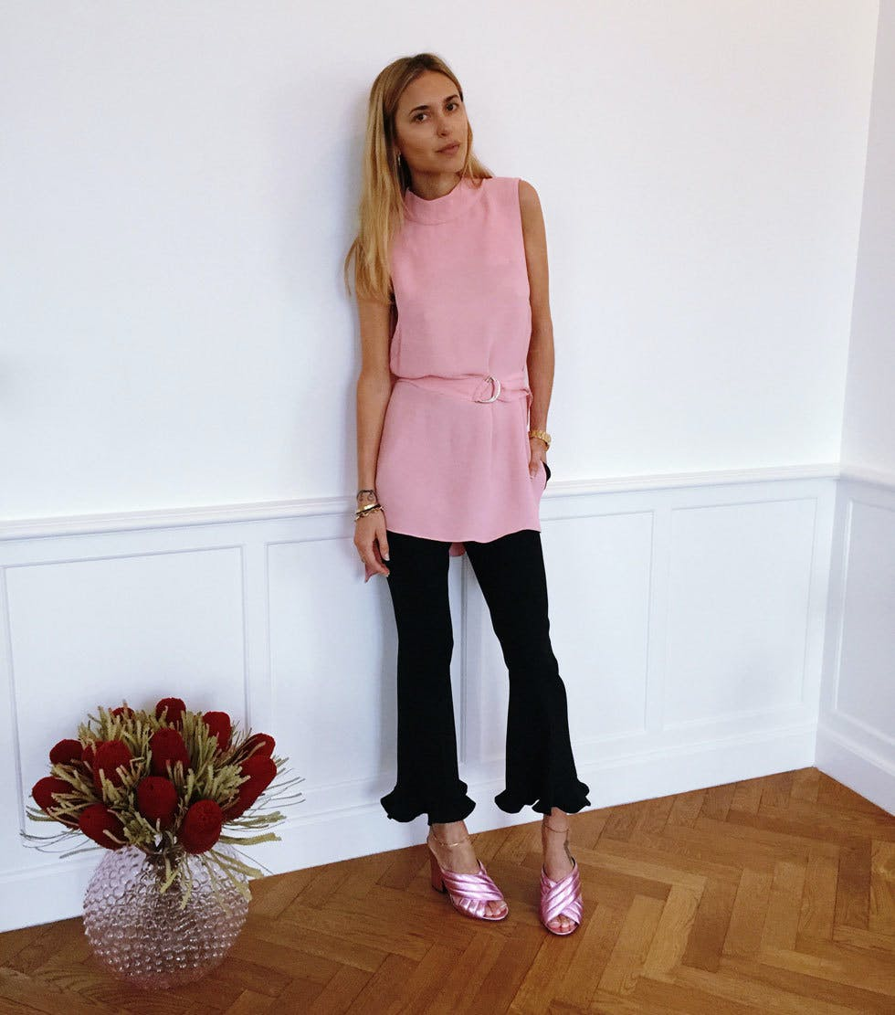 pink mules and ruffles august style ideas1