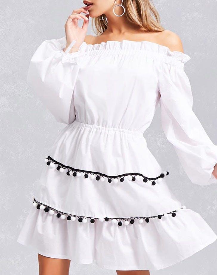 pom pom dress forever 21