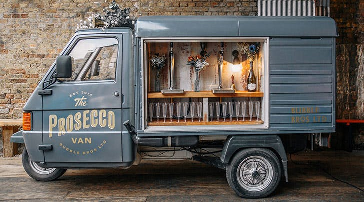 Prosecco Vans Are the New Wedding Trend We Dont Need (but Definitely Love)