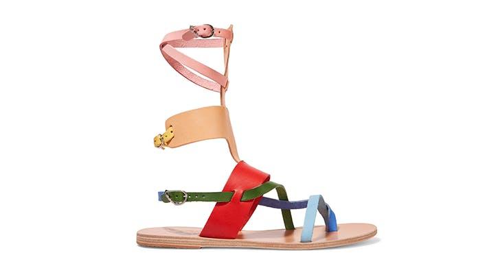 rainbow gladiators hamptons summer shoes