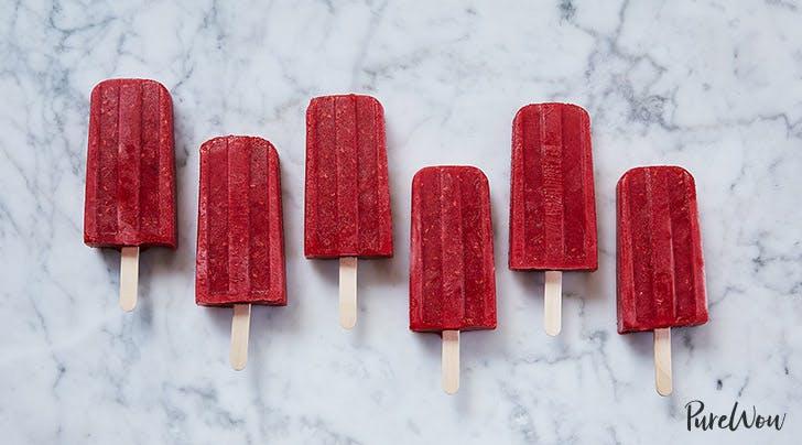 Raspberry Prosecco Ice Pops