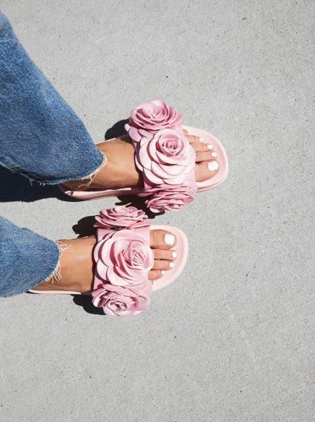 rosette slides maximalist shoe trends