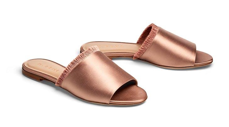 satin slides hamptons summer shoes