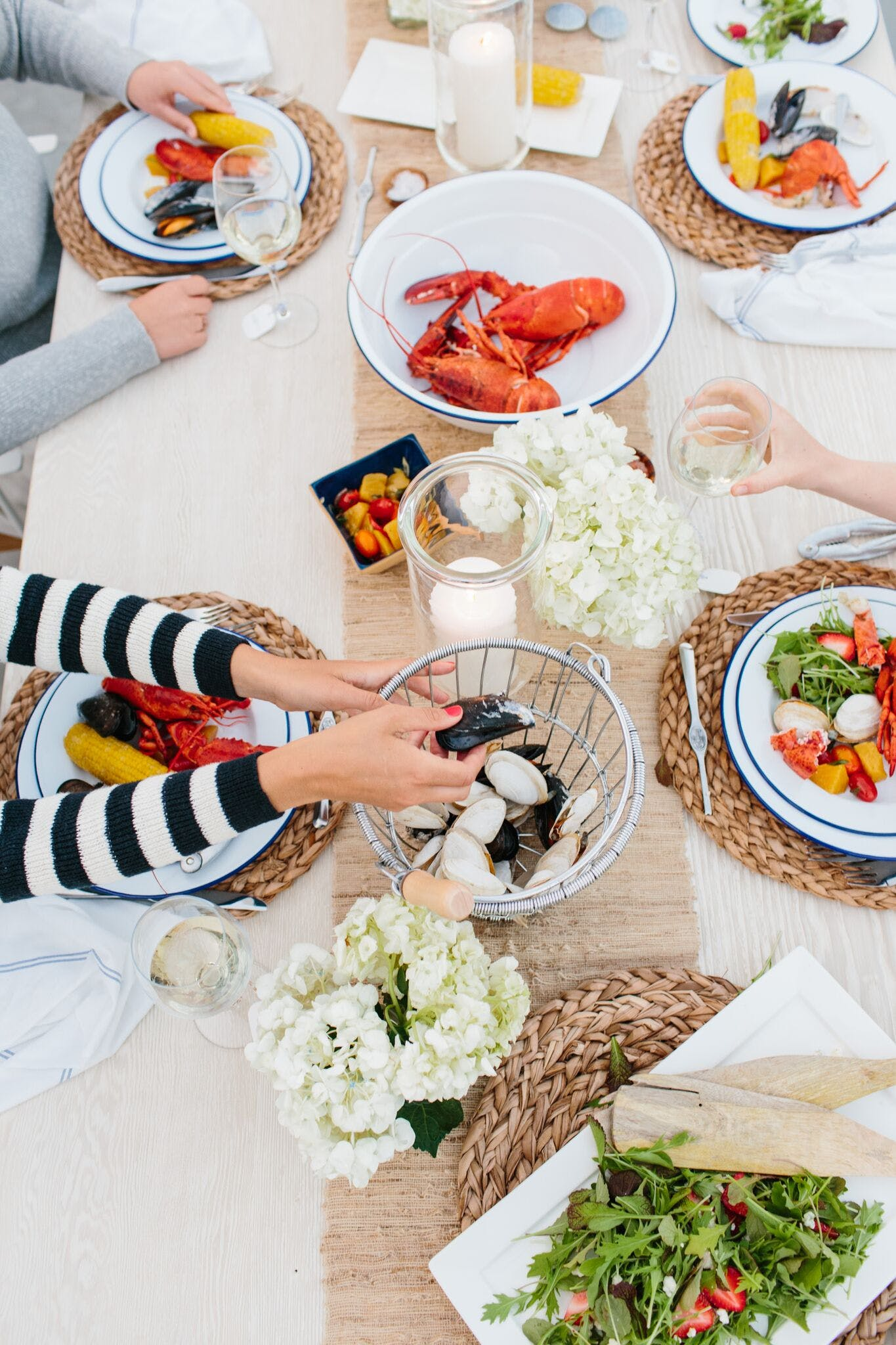 simple seasonal dinner garden party ideas