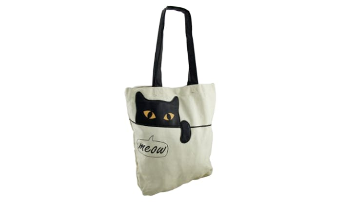 sleepyville cat tote for kids new
