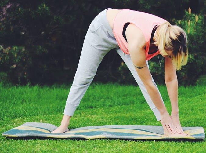 staycation yoga