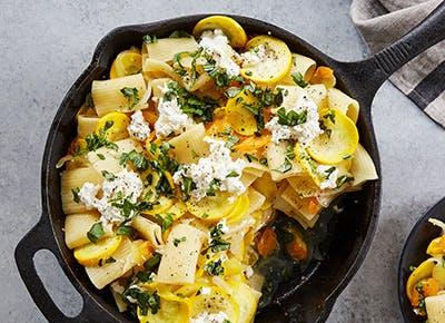 summer squash with rigatoni recipe 290
