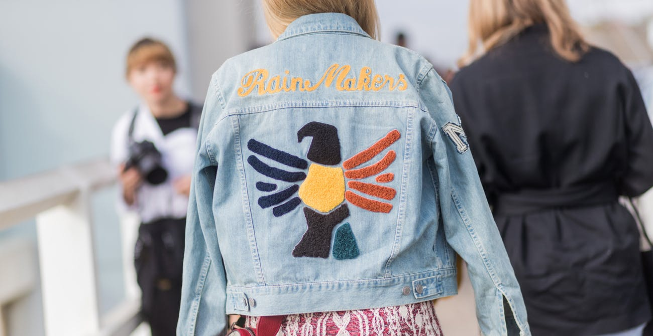 summer trends embroidered denim jacket cartier