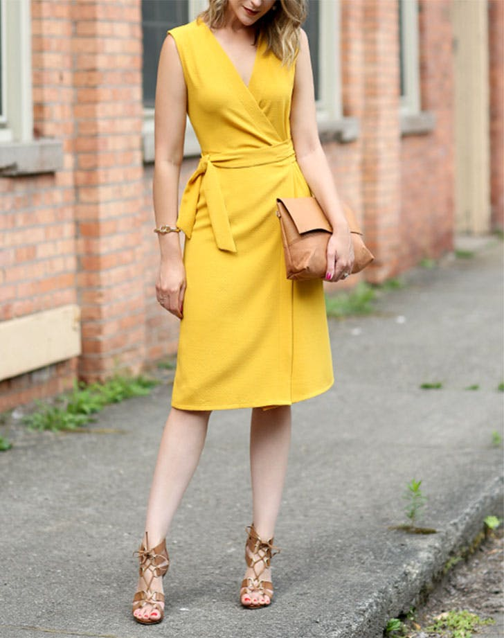 timeless clothes wrap dress