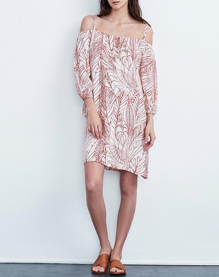 velvet tees cold shoulder dress NY