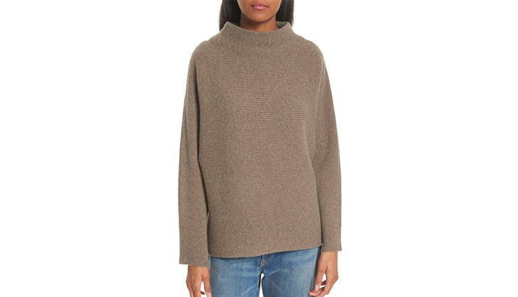 vince ribbed wool and cashmere sweater