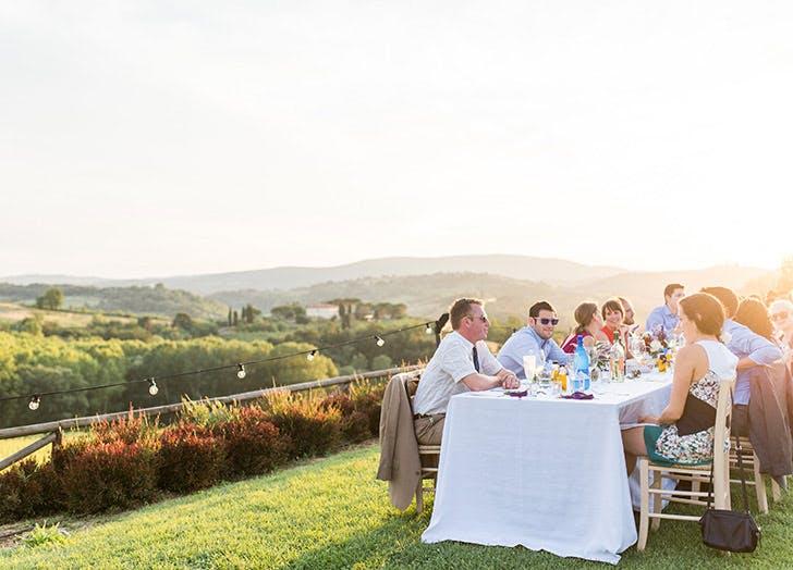 wedding outdoors summer guests LIST